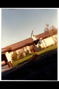 Me. Method off my jumpramp, 1989.